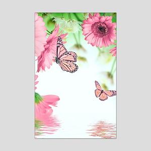 Pink Butterflies Mini Poster Print