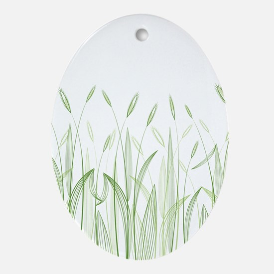 Delicate Grasses Ornament (Oval)