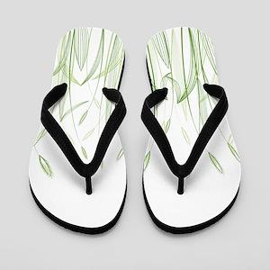 Delicate Grasses Flip Flops