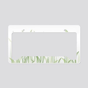 Delicate Grasses License Plate Holder