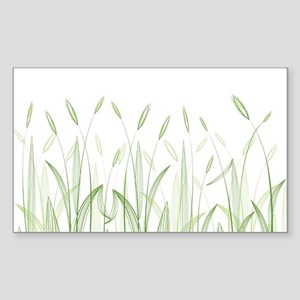 Delicate Grasses Sticker