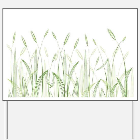 Delicate Grasses Yard Sign