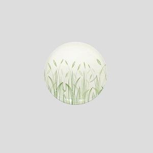 Delicate Grasses Mini Button