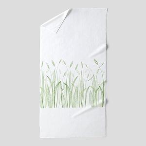 Delicate Grasses Beach Towel