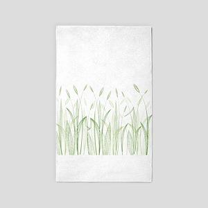 Delicate Grasses 3'x5' Area Rug