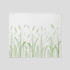 Delicate Grasses Throw Blanket