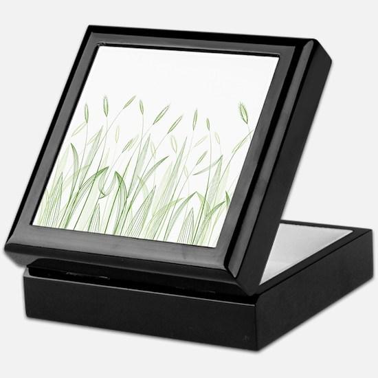 Delicate Grasses Keepsake Box