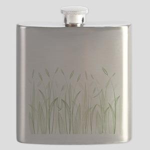 Delicate Grasses Flask