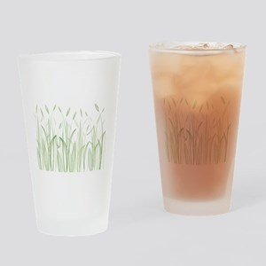 Delicate Grasses Drinking Glass
