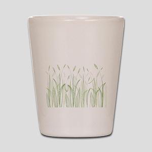 Delicate Grasses Shot Glass
