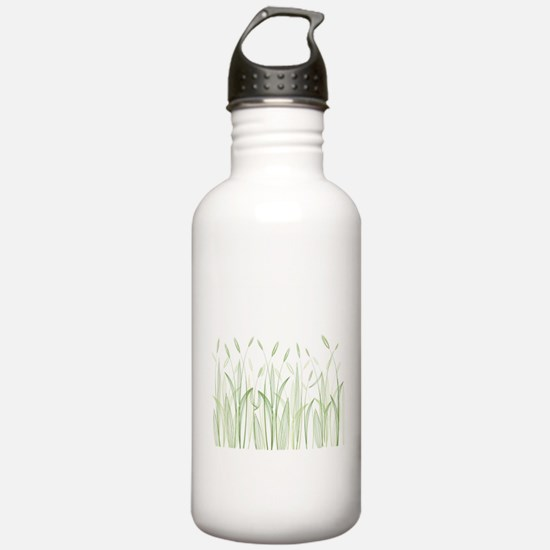 Delicate Grasses Water Bottle