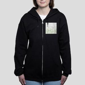 Delicate Grasses Women's Zip Hoodie