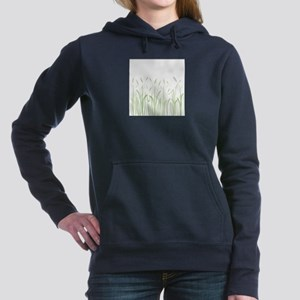 Delicate Grasses Women's Hooded Sweatshirt
