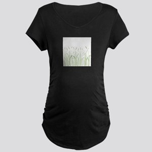 Delicate Grasses Maternity T-Shirt