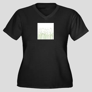 Delicate Grasses Plus Size T-Shirt