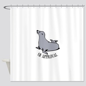 Seal of Approval Shower Curtain