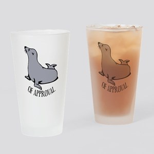 Seal of Approval Drinking Glass