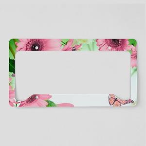 Pink Butterflies License Plate Holder