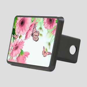 Pink Butterflies Rectangular Hitch Cover