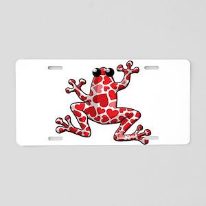 Heart Frog Aluminum License Plate