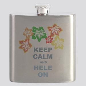 Keep Calm Hele On Flask