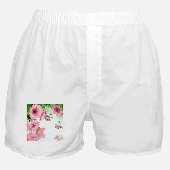 Pink Butterflies Boxer Shorts