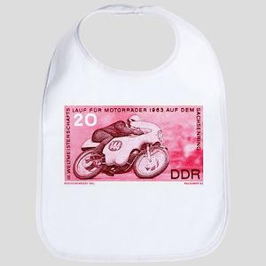Vintage 1956 Germany Motorcycle Race Stamp Bib