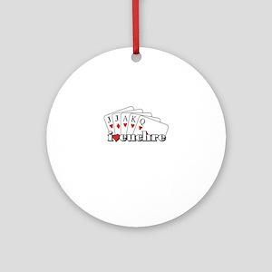 I Heart Euchre Ornament (Round)