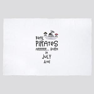 Real Pirates are born in JULY 4' x 6' Rug