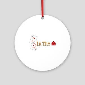 In the Barn Ornament (Round)