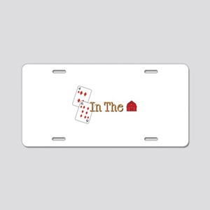 In the Barn Aluminum License Plate