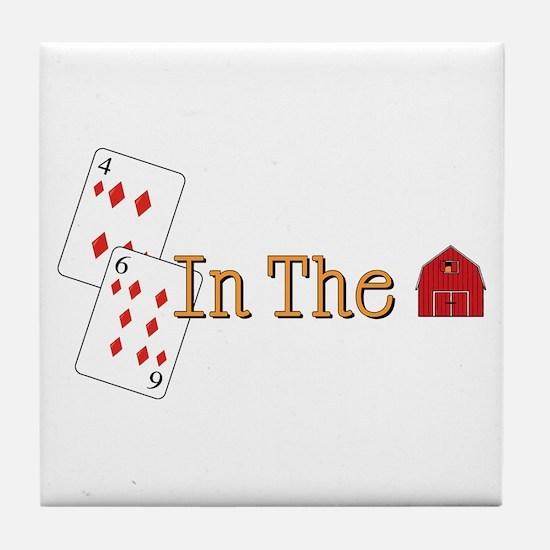 In the Barn Tile Coaster