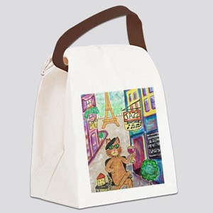 Jazz Cat Canvas Lunch Bag