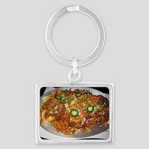 Waffle House Landscape Keychain