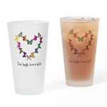 live. laugh. love a lupie Drinking Glass