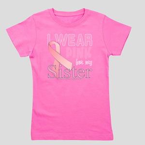 Breast Cancer Awareness logo for sister Girl's Tee