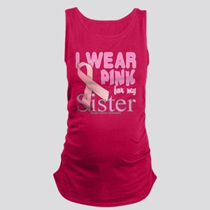 Breast Cancer Awareness logo fo Maternity Tank Top