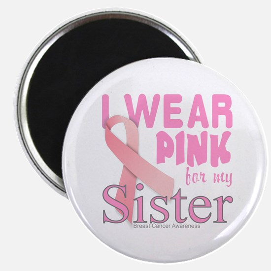 Breast Cancer Awareness logo for sister Magnet