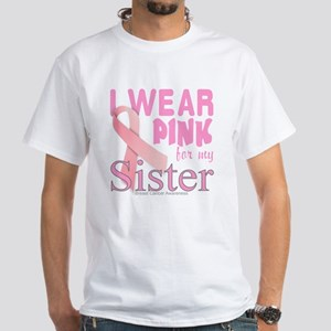 Breast Cancer Awareness logo for sis White T-Shirt