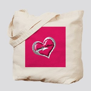 Pink Heart Arrow Personalized Tote Bag