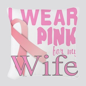 Breast Cancer Awareness for Wi Woven Throw Pillow