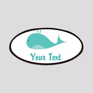 Personalizable Cute Whale Patches