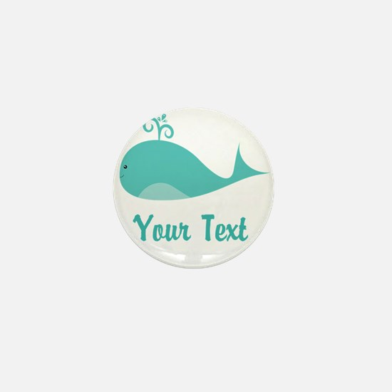 Personalizable Cute Whale Mini Button