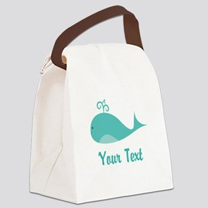 Personalizable Cute Whale Canvas Lunch Bag