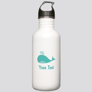 Personalizable Cute Whale Water Bottle
