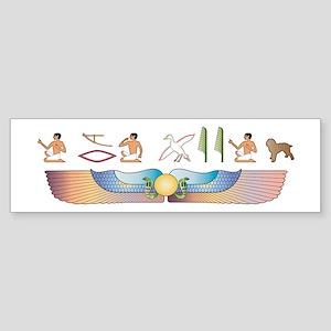 Cockapoo Hieroglyphs Bumper Sticker