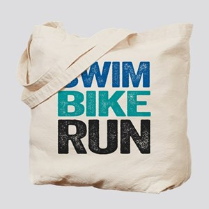 Triathlon. Swim. Bike. Run. Tote Bag