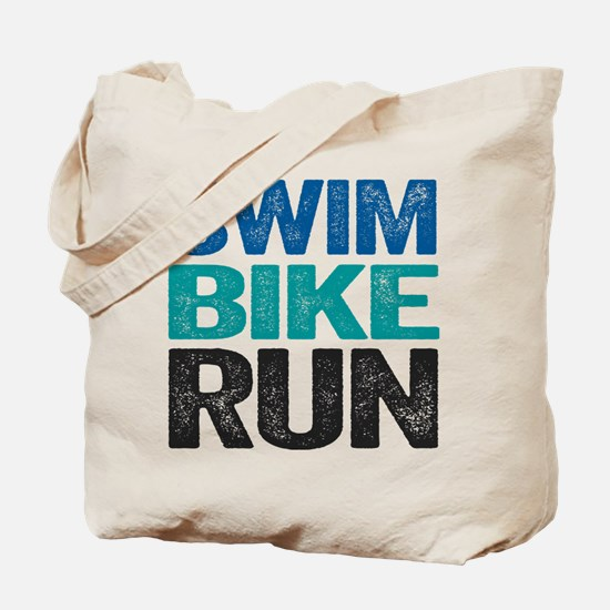 Triathlon. Swim. Bike. Run. Tote Bag