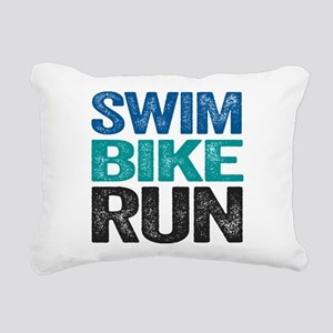 Triathlon. Swim. Bike. Run. Rectangular Canvas Pil