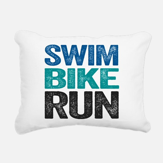Triathlon. Swim. Bike. Run. Rectangular Canvas Pil